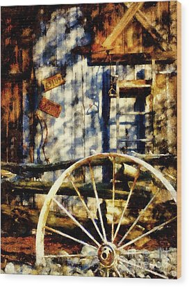 Rustic Decor Wood Print by Janine Riley