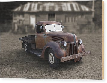 Wood Print featuring the photograph Rustic Ford Truck by Keith Hawley