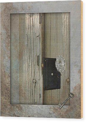 Rustic Glass Door Knob Wood Print