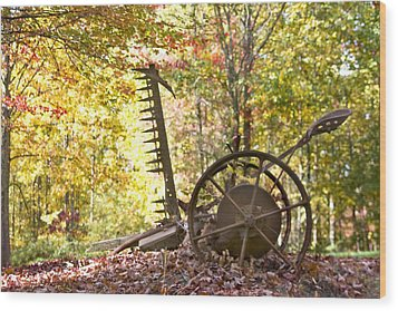 Wood Print featuring the photograph Rustic Hay Cutter by Robert Camp