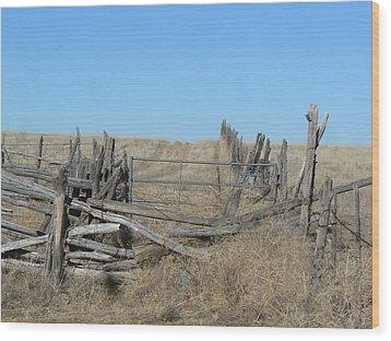 Rustic Range Wood Print