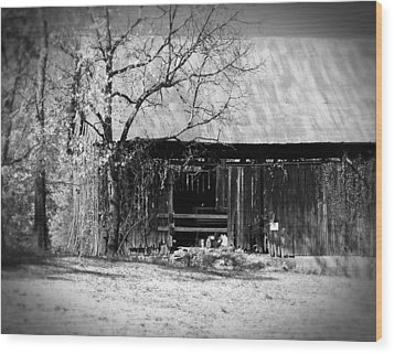 Rustic Tennessee Barn Wood Print by Phil Perkins