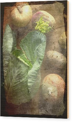 Rustic Vegetable Fruit Medley IIi Wood Print by Suzanne Powers