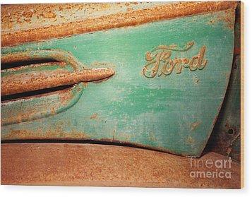 Rusting Ford Wood Print by James Brunker