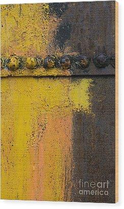 Rusting Machinery Wood Print by John Shaw