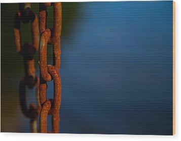 Rusty 4 Wood Print by Karol Livote