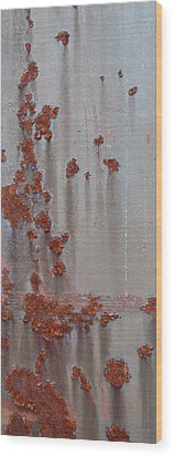 Rusty Abstract Wood Print by Jani Freimann