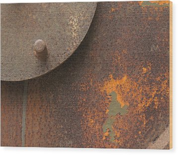Rusty Abstraction Wood Print