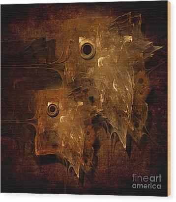 Rusty Wood Print by Alexa Szlavics