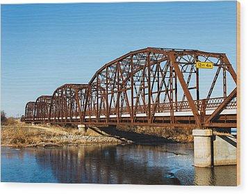 Rusty Bridge Wood Print