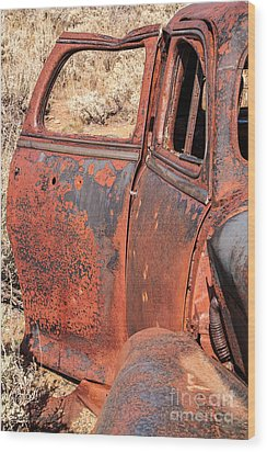 Wood Print featuring the photograph Rusty Doors by Sue Smith