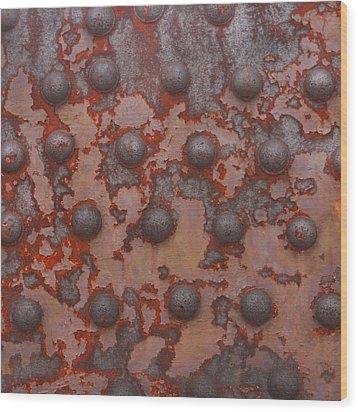 Rusty Girder Truss Wood Print by Art Block Collections