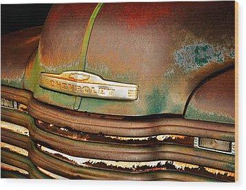Rusty Gold Wood Print by Marty Koch