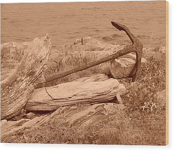 Rusty Wood Print by Jean Goodwin Brooks