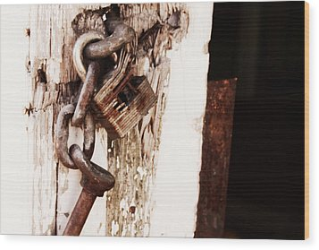 Rusty Wood Print by Michele Richter