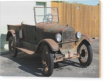 Rusty Old Ford Jalopy 5d24641 Wood Print by Wingsdomain Art and Photography
