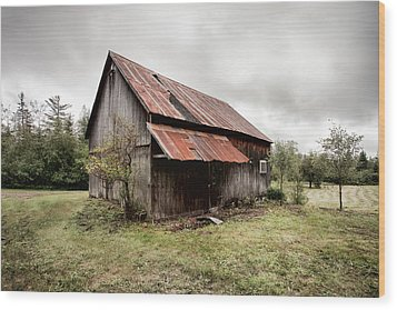 Rusty Tin Roof Barn Wood Print