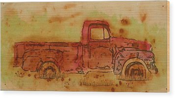 Rusty Truck Wood Print by Jenny Williams