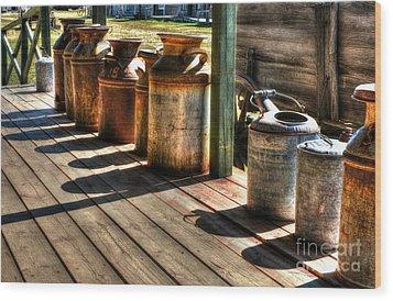 Rusty Western Cans 1 Wood Print by Mel Steinhauer