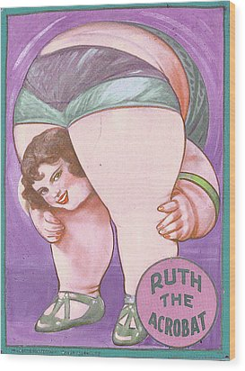 Ruth The Acrobat Circus Poster Wood Print by Tony Rubino