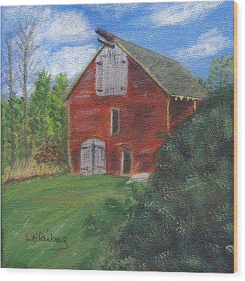 Ruth's Barn Wood Print