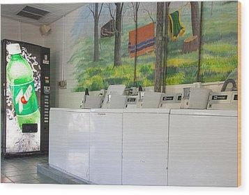 Rutledge Lake Rv Park Laundry Facilities Asheville Nc Wood Print