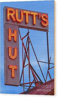 Rutt's Hut Wood Print