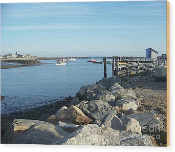 Wood Print featuring the photograph Rye Harbor  by Eunice Miller