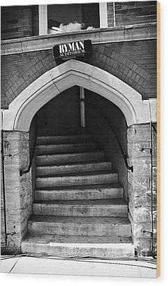 Ryman Auditorium Back Door Wood Print