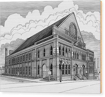 Ryman Auditorium In Nashville Tn Wood Print by Janet King