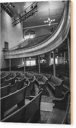 Ryman Auditorium Pews Wood Print by Glenn DiPaola