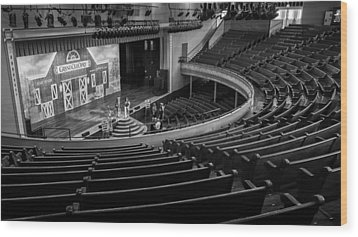 Ryman Stage Wood Print by Glenn DiPaola