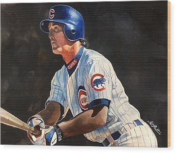 Ryne Sandberg - Chicago Cubs Wood Print by Michael  Pattison