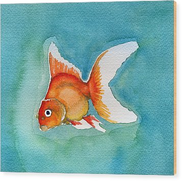 Ryukin Goldfish Wood Print by Katherine Miller