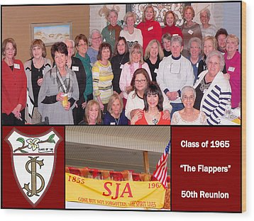 S J A Reunion Collage Flappers Wood Print