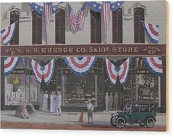 S. S. Kresge Five And Ten Cent Store Wood Print