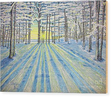 S. Winter. Wood Print by Viktor Lazarev