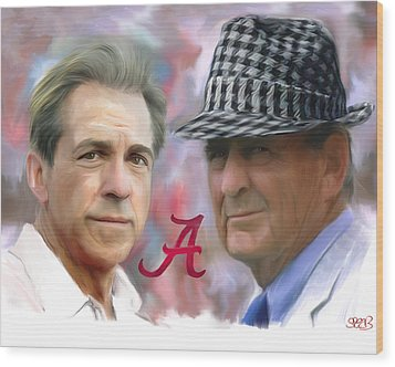 Saban And Bear Wood Print