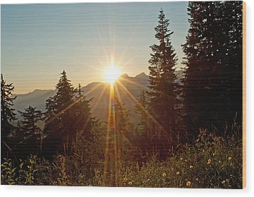 Sabbath Sunset Wood Print