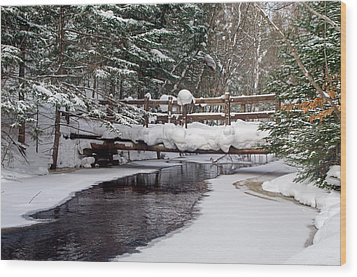 Sable Creek Footbridge  Wood Print
