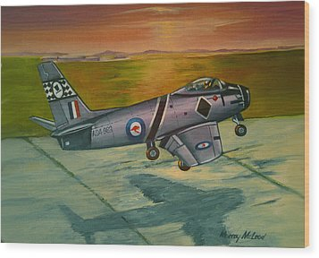 Wood Print featuring the painting Sabre At Sunset by Murray McLeod