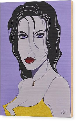 Sabrina Wood Print by Patrice Clark