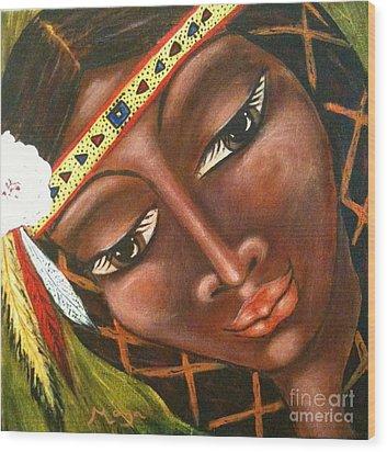 Sacajawea Wood Print by Maya Telford