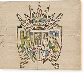 Sacramento Kings Poster Art Wood Print by Florian Rodarte