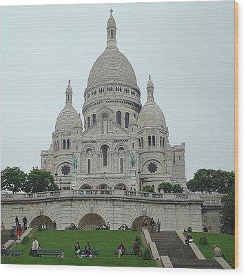 Sacre Coeur Basilica Wood Print