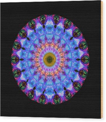 Sacred Crown - Mandala Art By Sharon Cummings Wood Print