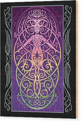 Sacred Ecology V.2 Wood Print by Cristina McAllister