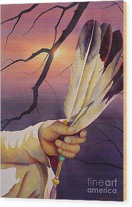 Sacred Feathers Wood Print by Robert Hooper