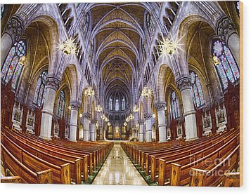 Sacred Heart Basilica Wood Print by Jerry Fornarotto