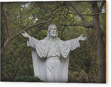 Sacred Heart Of Jesus Wood Print by Beth Vincent